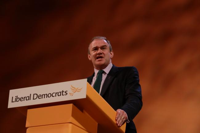 Ed Davey speaks at the 2018 Liberal Democrat conference. Image: Liberal Democrats via Flickr