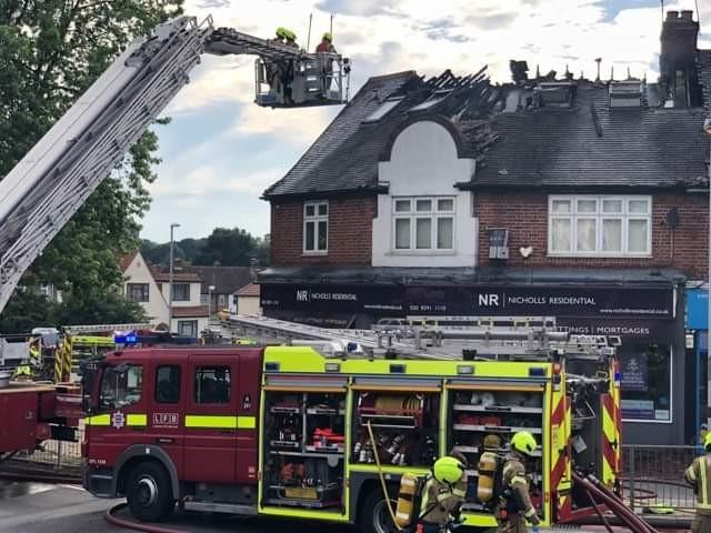The scene in Hook Road. Picture: Michael Bates