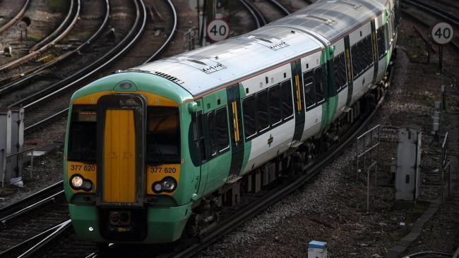 No trains are running between London and Sussex after a person was hit by a train this morning