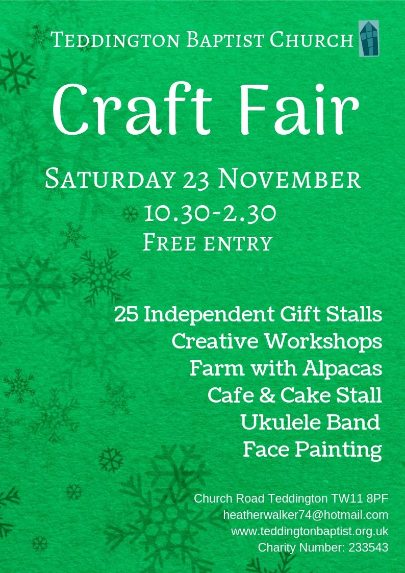 Festive Craft Fair at Teddington Baptist Church