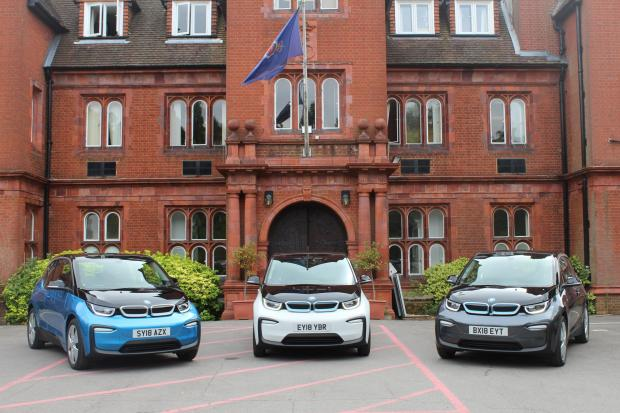 Surrey Comet: Surrey Police are moving towards using more electric cars. Image: Surrey PCC