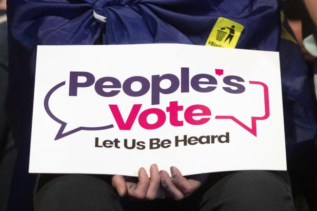 People's Vote sign