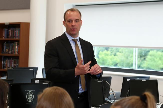 Mr Raab at the Three Rivers Academy in Hersham