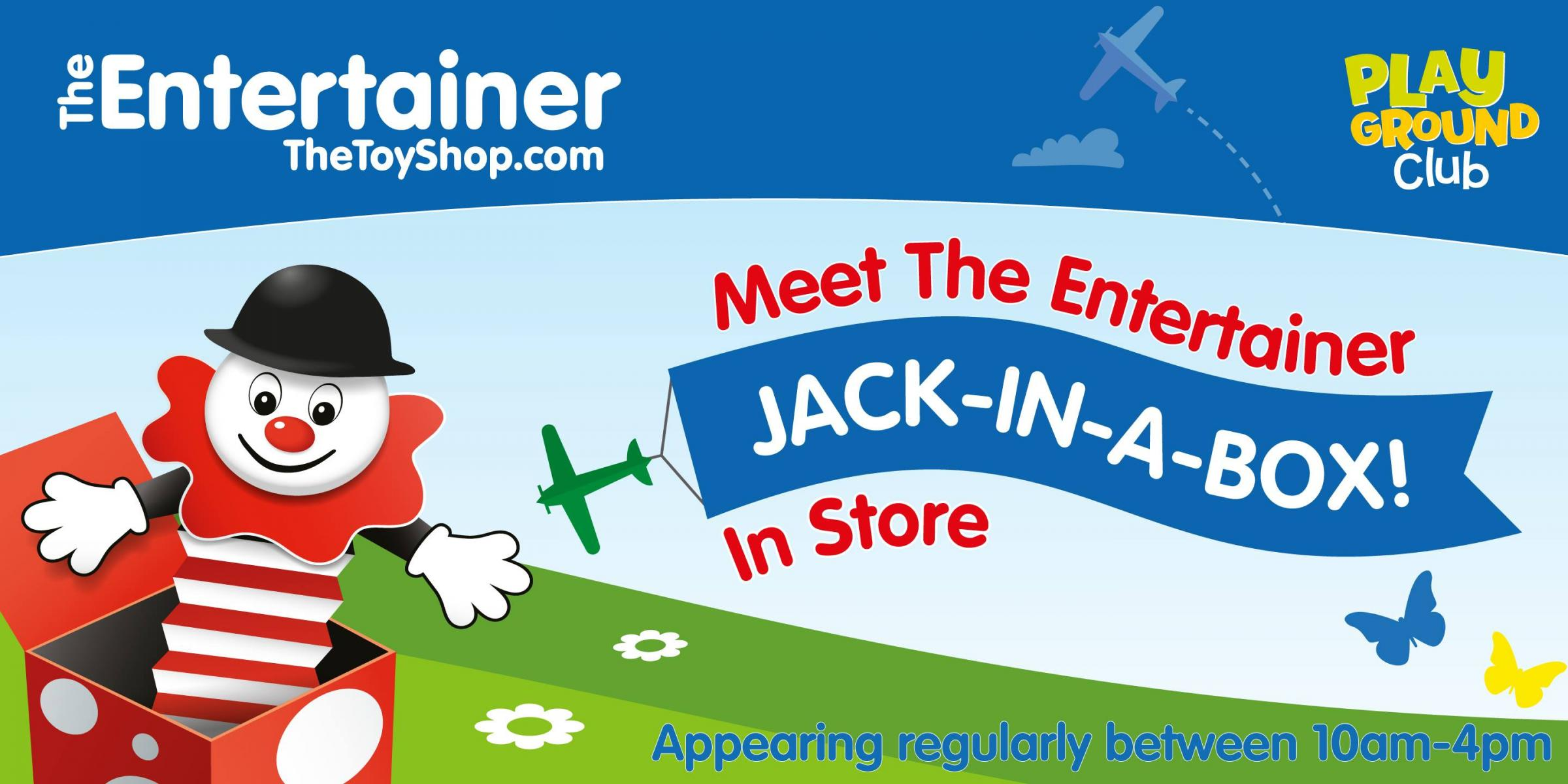 Meet Jack-in-a-box at The Entertainer at Two Rivers Sat 25th Jan