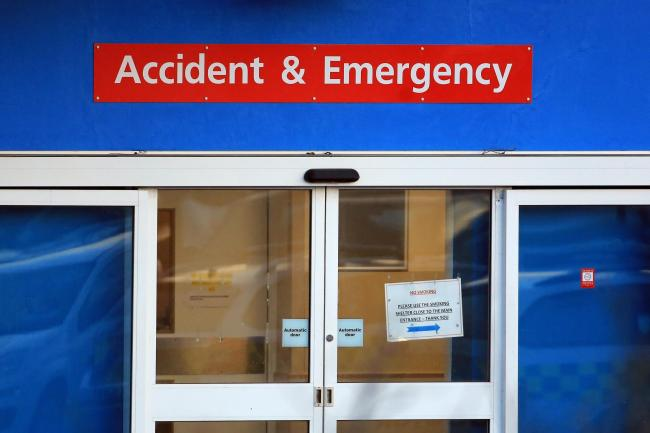 An entrance to an A&E department