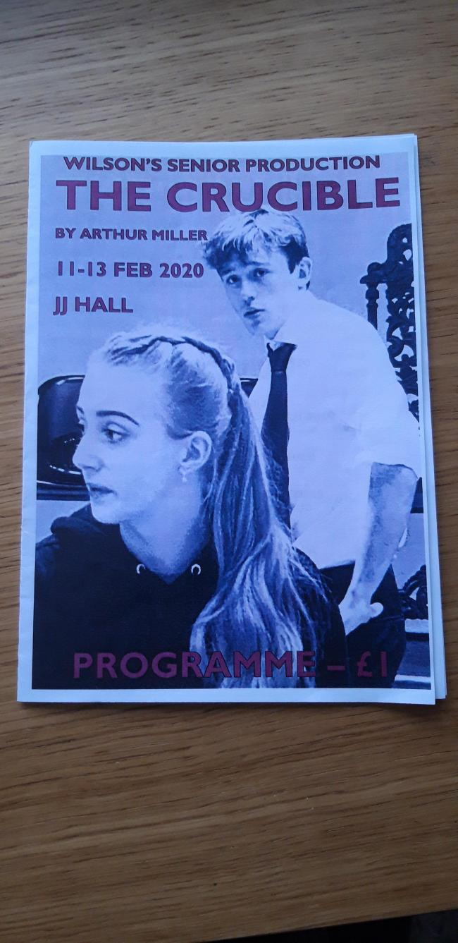 A picture of the production's programme
