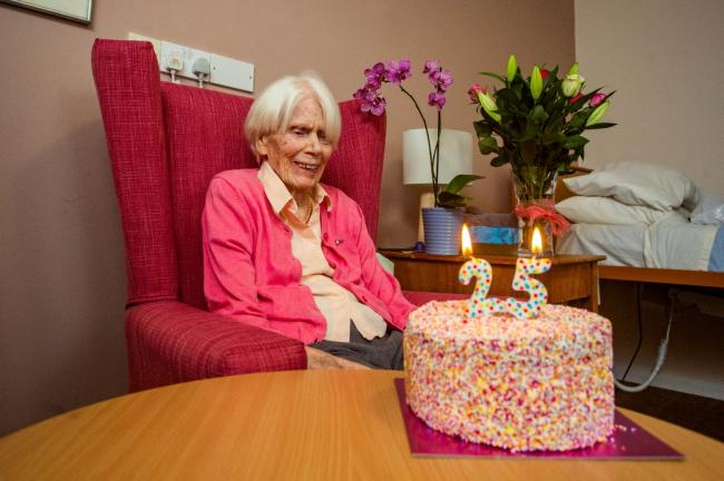 Hilary Don-Fox is only just celebrating her 25th birthday, despite being born in 1920