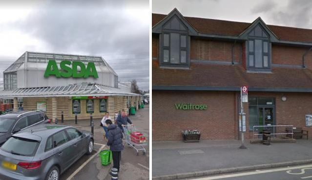 Police were called to shops including Wallington Asda and Banstead Waitrose
