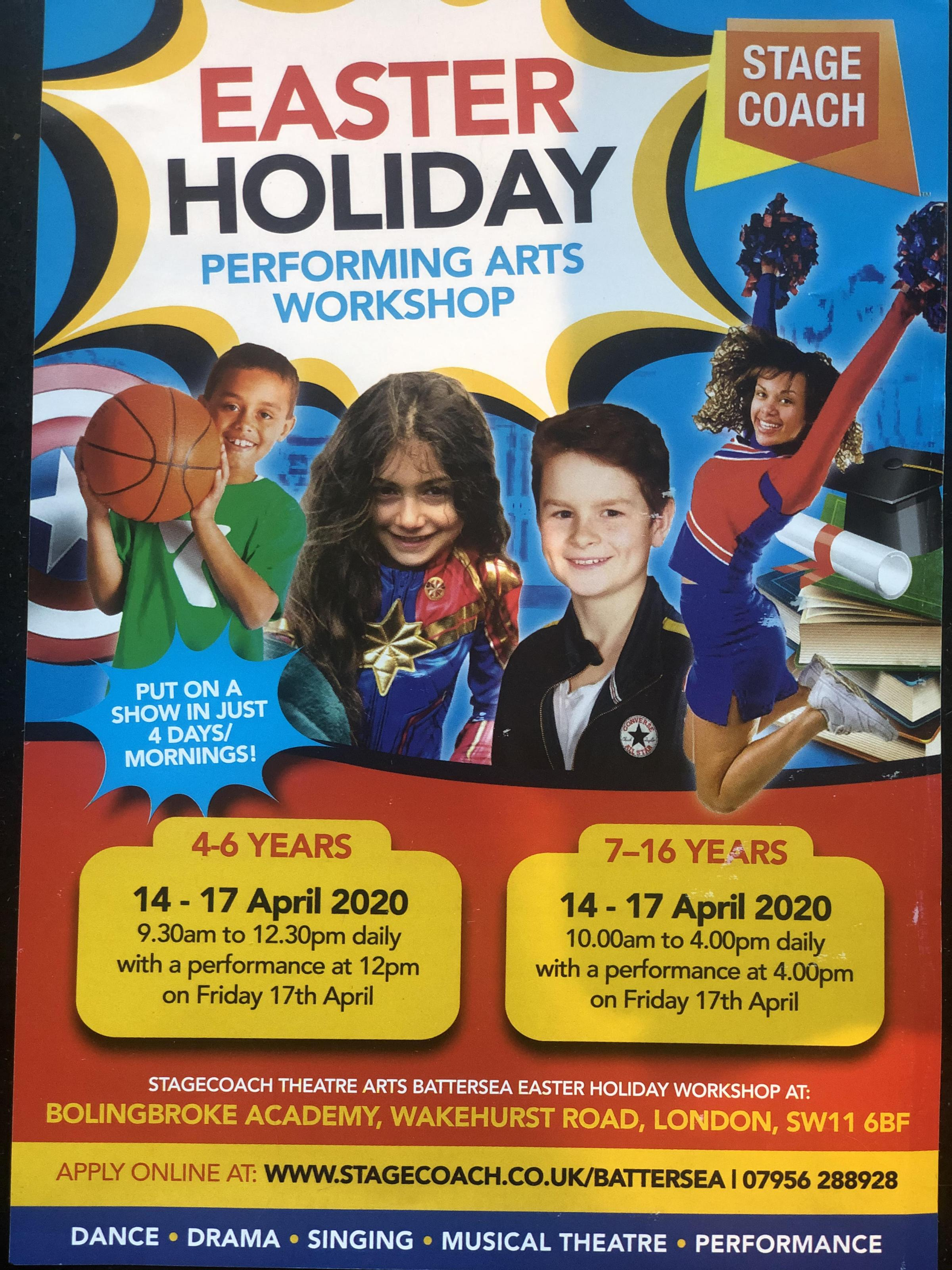 Stagecoach Performing Arts Easter Holiday Workshop