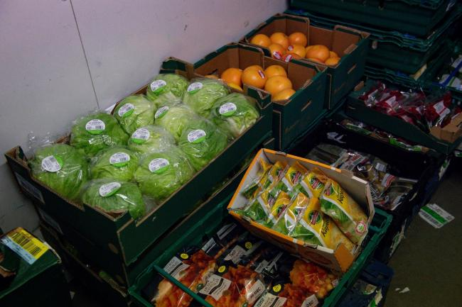 Food supplies in a FareShare warehouse