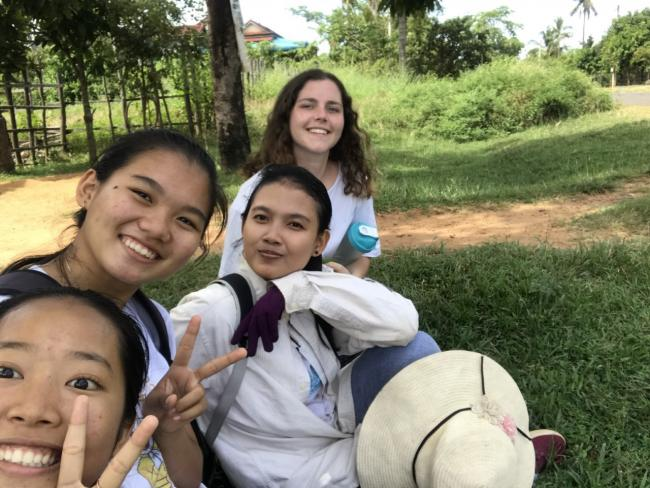 Marcia Rainey on volunteer placement in Cambodia