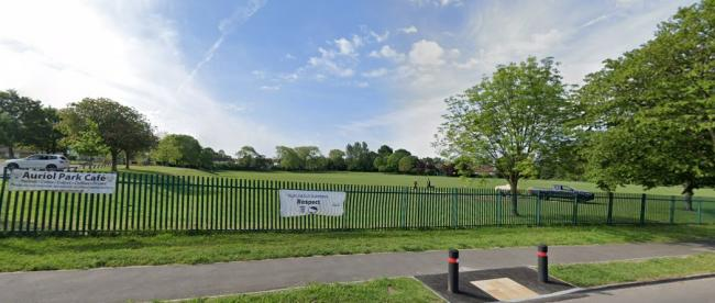 Auriol Park in Epsom, where a couple were racially abused recently.