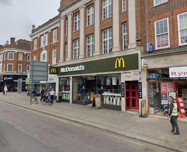 Epsom is one of the McDonalds chains reopening for takeaways.