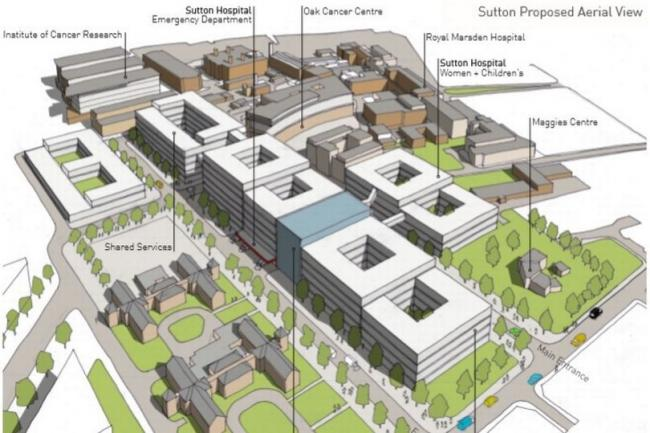 View of the planned emergency care facility at Epsom. Image: Improving Healthcare Together