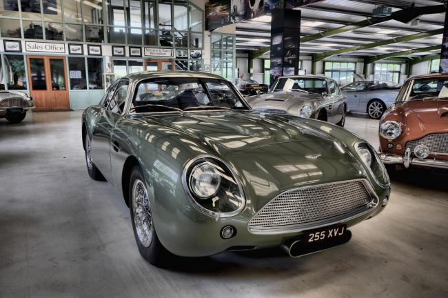Aston Workshop's bespoke 1961 Aston Martin DB4 GT Zagato recreation, which sold to an anonymous Swiss buyer for £1.8m