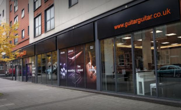 Surrey Comet: GuitarGuitar in Epsom said many people had turned to them in lockdown in the hopes of using the time to learn an instrument. Image: Patrick Martin/Google