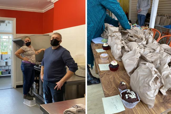 Souper Soup volunteers join the effort to provide free meals to those who need them in Kingston and Surbiton. Images via The Community Brain / Robin Hutchinson