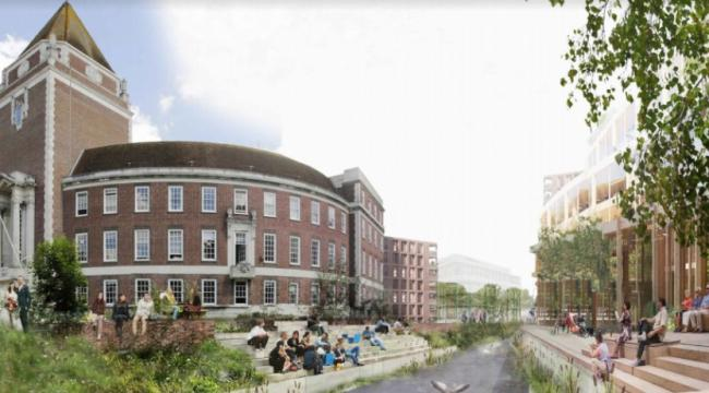 Concept image released by RBK alongside their announcement of plans to 'regenerate' the Guildhall complex.