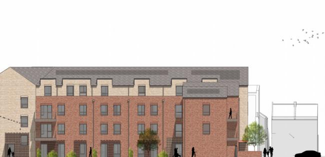 Drawing submitted for plans at Roupell House, Florence Road and Land To The Rear Of 37-40 York Road via Kingston.gov.uk