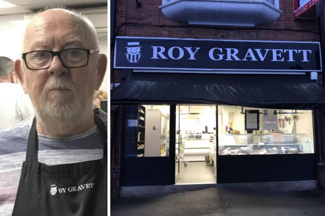 Belmont pay tribute to Roy Gravett of Roy Gravett Butchers