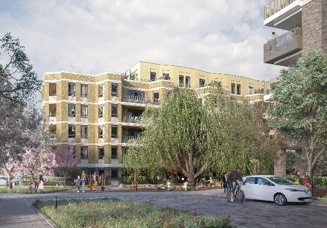 A CGI of what the Cambridge Road Estate will look life after regeneration