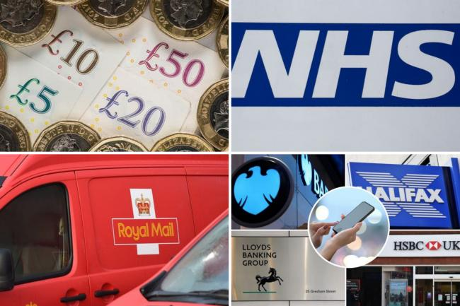 Royal Mail, HMRC, banks and the NHS - urgent warning to Brits at risk of scams. (PA/Canva)