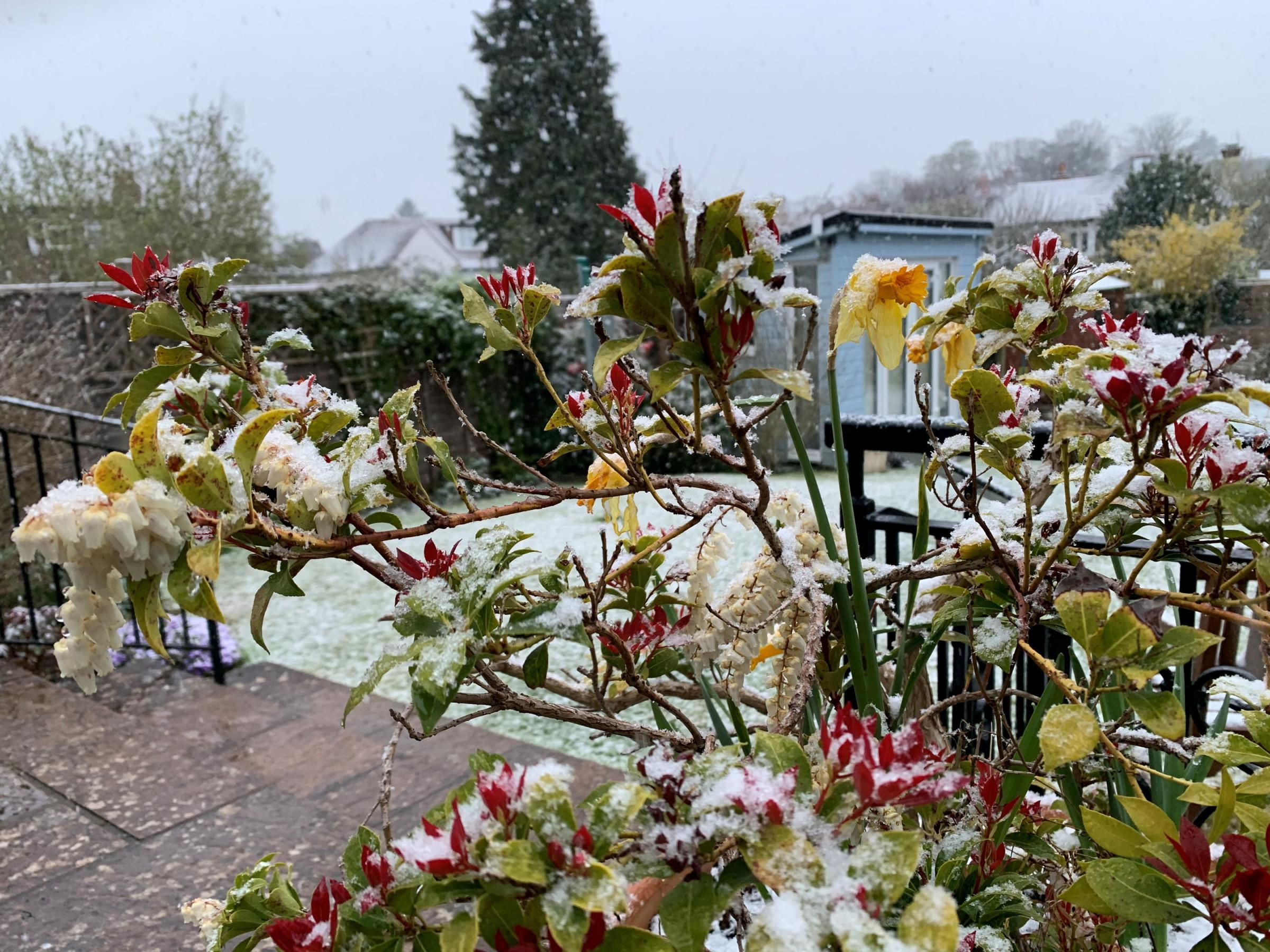 A light dusting of snow. Peter Clifton/PA Wire.