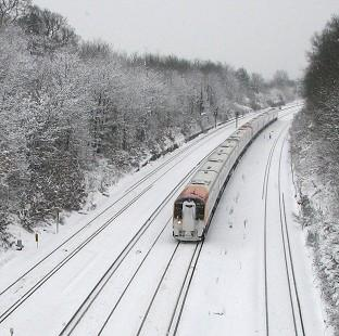 Surrey Comet: More than 100 rail passengers have been stranded after their train became stuck in snow (stock image)