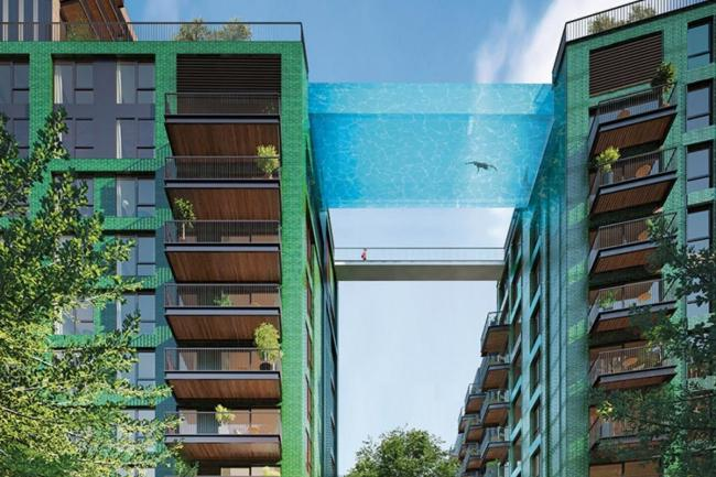 The sky pool is set to open in May (image: Embassy Gardens)