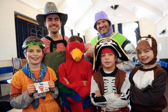 Pirates and parrots celebrate Purim