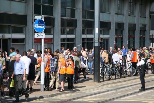 Four hundred people queued at East Croydon station after a mudslide caused delays in 2011