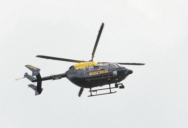 Met police helicopter over Kingston