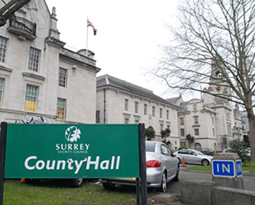Surrey County Council's County Hall building in Kingston