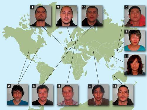 Hunt for most wanted goes international