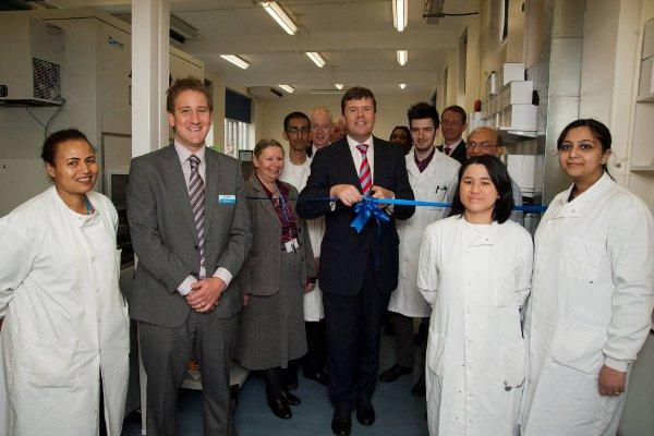 The opening of two pathology laboratories at St Helier in May 2012