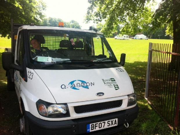 Travellers to stay on Kingston recreation ground for 'two or three days' to undergo medical checks