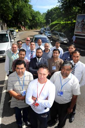 Angry: Taxi and minicab drivers are angry at the plans