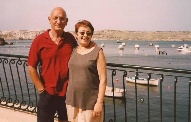Surrey Comet: Graham Rollinson with wife Mary