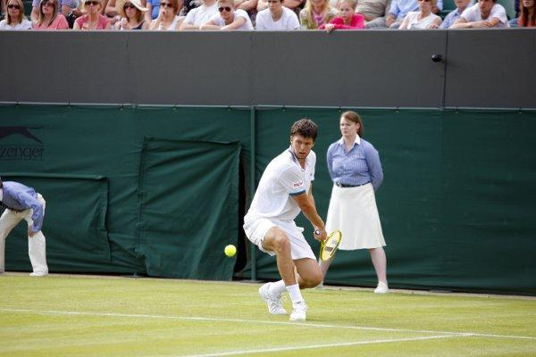 Disappointed: Oliver Golding lost in in four sets at Wimbledon this week