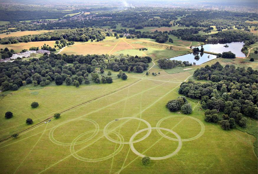 Welcome: The rings stretch 300 metres