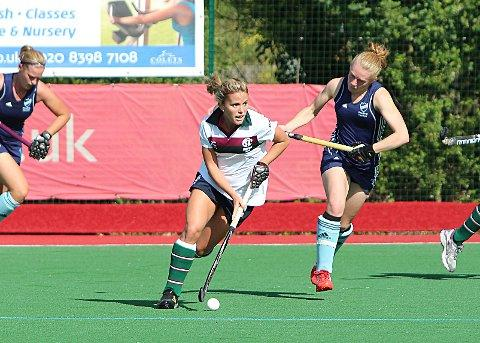 A new Page in history: Surbiton's Sarah Page in action during last week's 4-0 over Reading