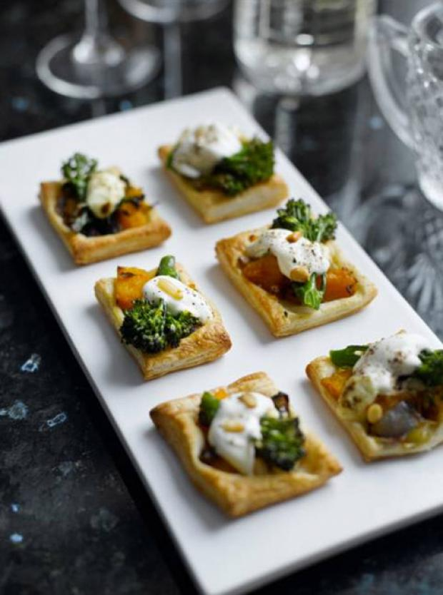 Mini Tenderstem, Pumpkin & Pine Nut Tartlets