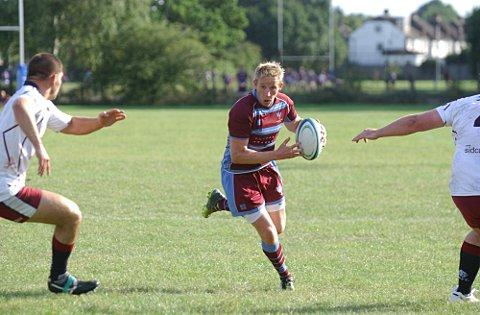 In the points: Neil Hallett bagged five points in the 17-10 defeat at Sidcup     SP68732