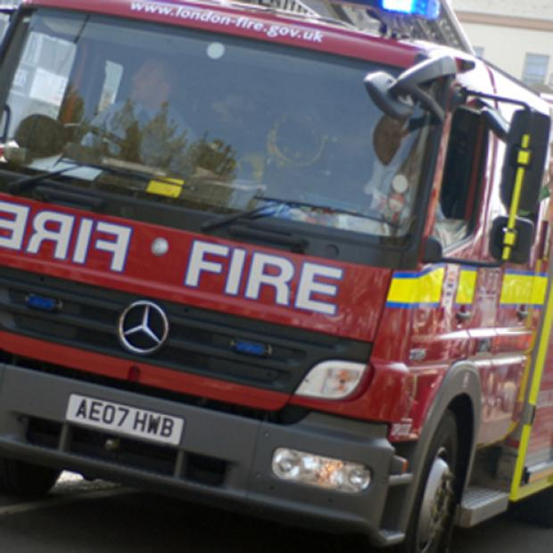 Worcester Park lock up garage damaged in midnight blaze