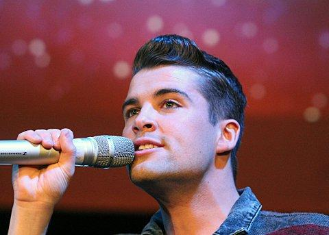 X Factor winner Joe McElderry performs at BRIT School