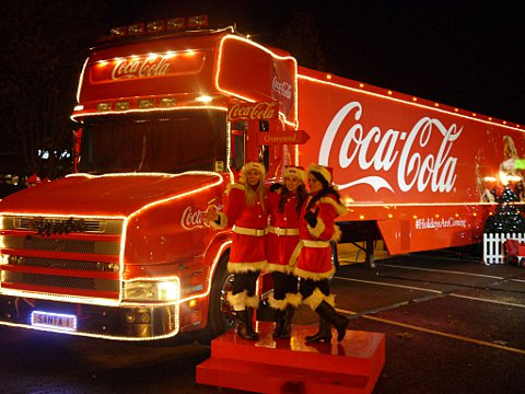 The iconic Coca-Cola Christmas truck with be visiting five locations in London for 2016, including The O2 in Greenwich