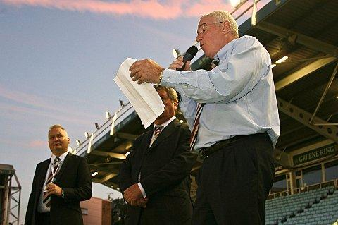 Ready for busines: Broncos chairman David Hughes, right    Picture: Ray Wilmott