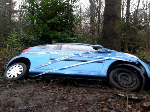 Lucky escape: The driver was treated for shock [Credit: Asa Baudin]