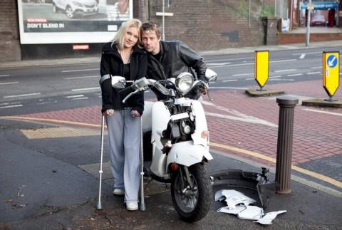 Rider Natalie Wright was knocked off her scooter by hit-and-run driver on Christmas Day