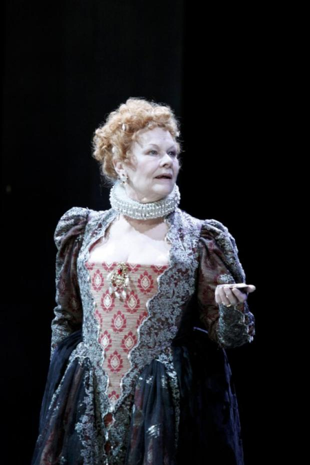 Surrey Comet: The dress of Dame Judi Dench, seen here in A Midsummer Night's Dream at the Rose in February 2010, is to be auctioned off tonight